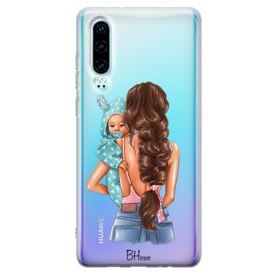 Mother Brunette With Boy Kryt Huawei P30