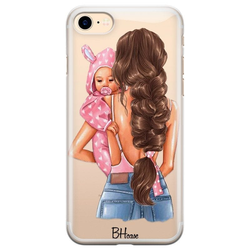Mother Brunette With Girl Kryt iPhone 8/7/SE 2 2020