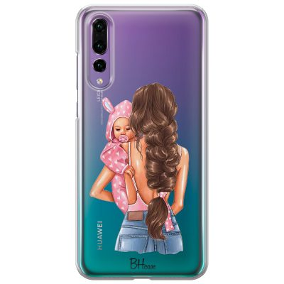 Mother Brunette With Girl Kryt Huawei P20 Pro