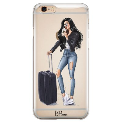 Woman Black Haired With Baggage Kryt iPhone 6 Plus/6S Plus