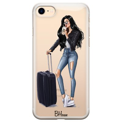 Woman Black Haired With Baggage Kryt iPhone 7/8