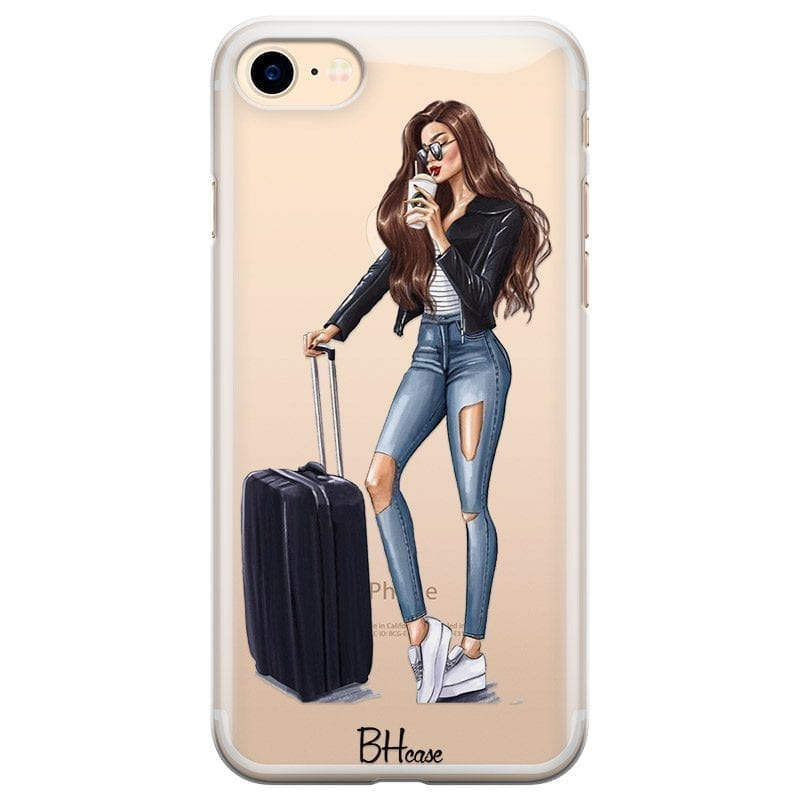 Woman Brunette With Baggage Kryt iPhone 8/7/SE 2 2020