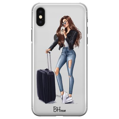 Woman Brunette With Baggage Kryt iPhone X/XS