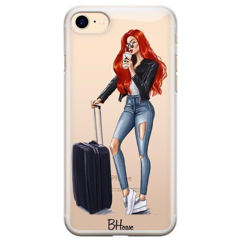 Woman Redhead With Baggage Kryt iPhone 8/7/SE 2 2020