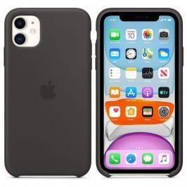 Apple Black Silicone Kryt iPhone 11
