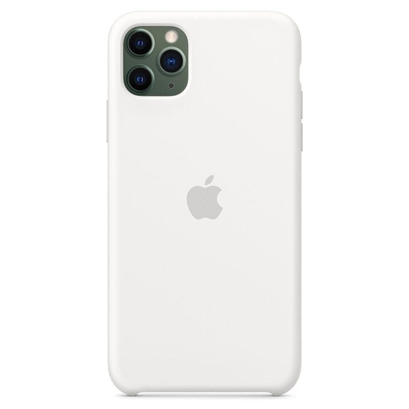 Apple White Silicone Kryt iPhone 11 Pro Max
