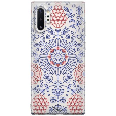 Blue Red Ornaments Kryt Samsung Note 10 Plus