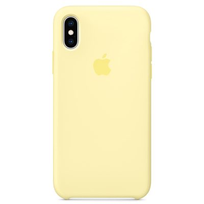 Apple Mellow Yellow Silicone Kryt iPhone XS