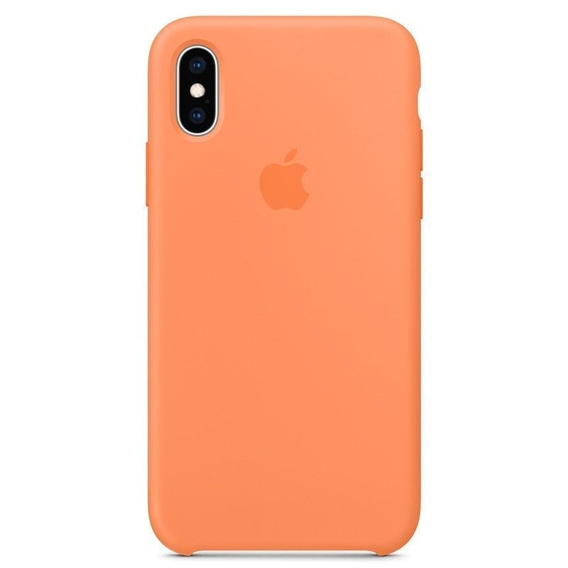 Apple Papaya Silicone Kryt iPhone XS