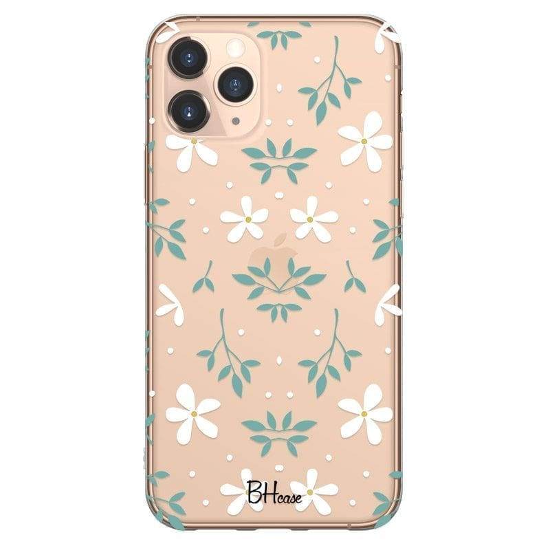 White Floral Kryt iPhone 11 Pro