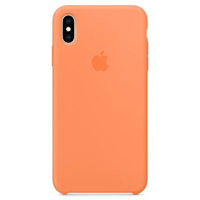 Apple Papaya Silicone Kryt iPhone XS Max