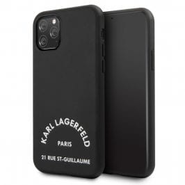 Karl Lagerfeld Rue St Guillaume Silicone Black Kryt iPhone 11 Pro