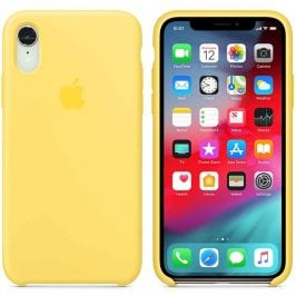 Apple Canary Yellow Silicone Kryt iPhone XR