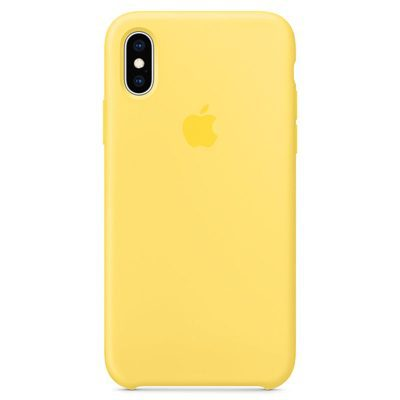 Apple Canary Yellow Silicone Kryt iPhone XS
