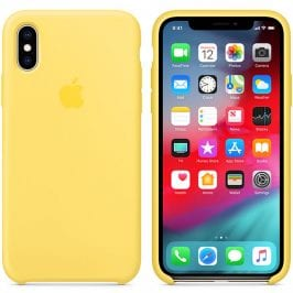 Apple Canary Yellow Silicone Kryt iPhone XS Max
