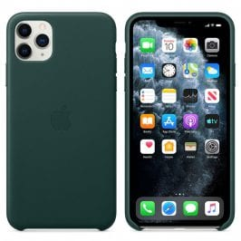 Apple Forest Green Leather Kryt iPhone 11 Pro