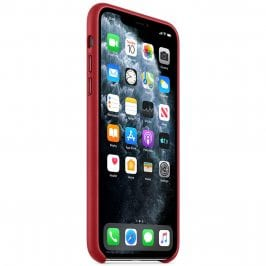 Apple Product Red Leather Kryt iPhone 11 Pro