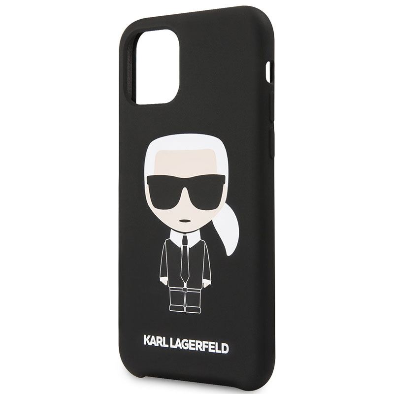 Karl Lagerfeld Iconic Silicone Black Kryt iPhone 11 Pro