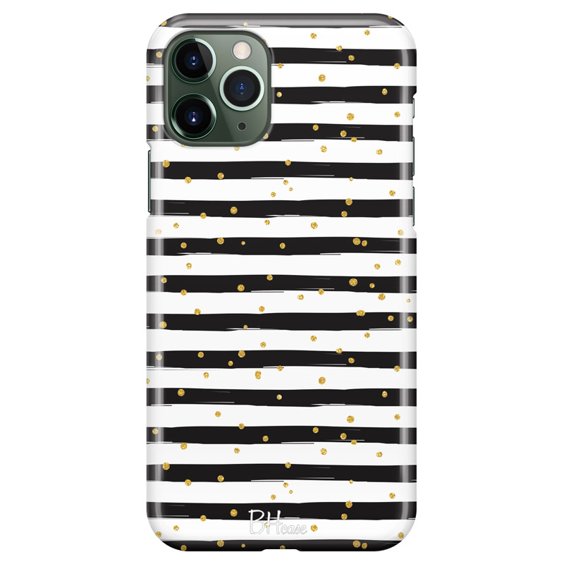 Stripes Gold Black White Kryt iPhone 11 Pro