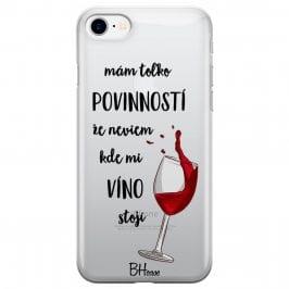 Neviem Kde Mi Víno Stojí Kryt iPhone 8/7/SE 2 2020