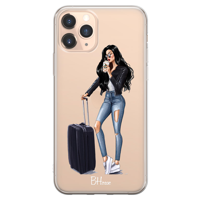 Woman Black Haired With Baggage Kryt iPhone 11 Pro