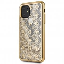 Guess 4G Peony Glitter Gold Kryt iPhone 11