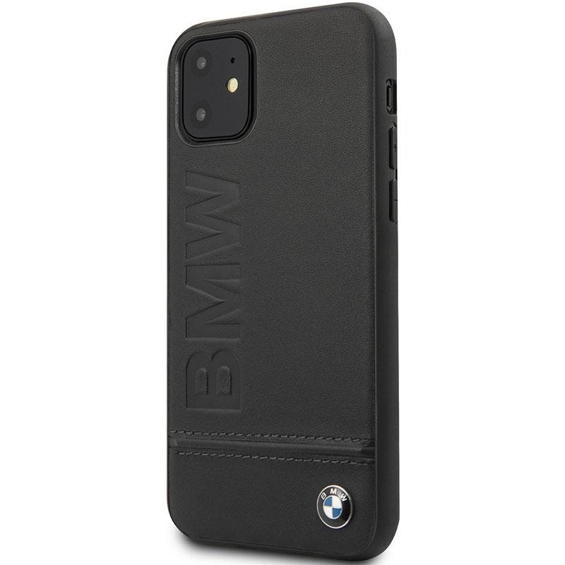 BMW Logo ImPrint Black Kryt iPhone 11