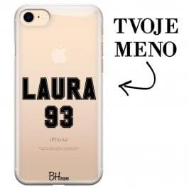 Kryt s menom a číslom pre iPhone 7/8