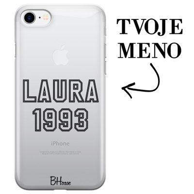 Kryt s menom a číslom pre iPhone 8/7/SE 2 2020