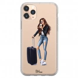 Woman Brunette With Baggage Kryt iPhone 11 Pro