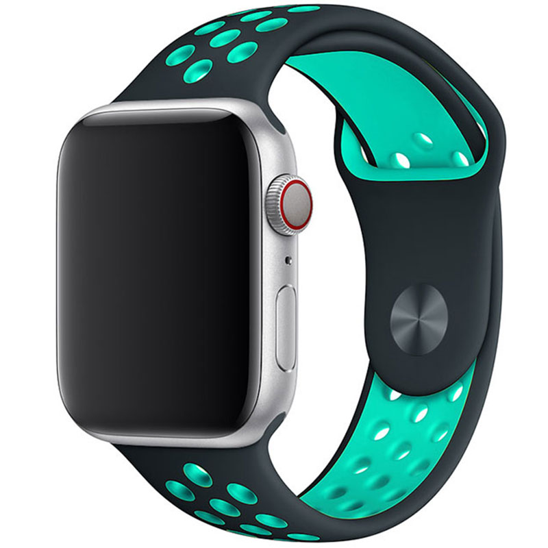 Sport Náramok Apple Watch 42/44mm Black/Lake Cyan Large