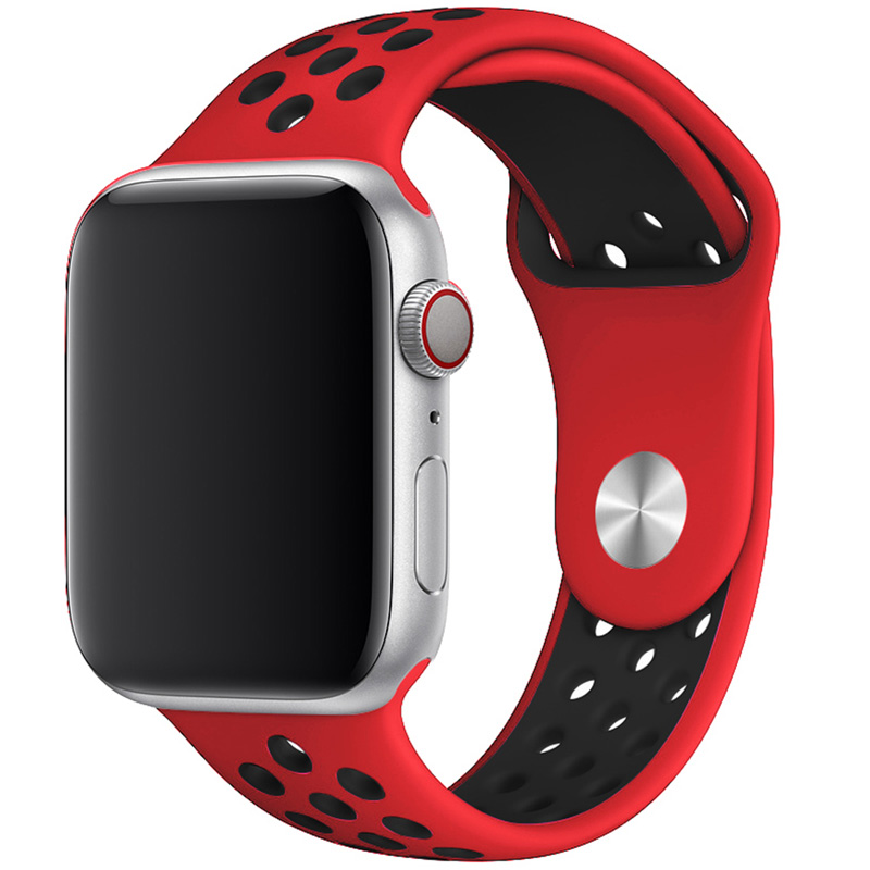 Sport Náramok Apple Watch 42/44mm Red/Black Large