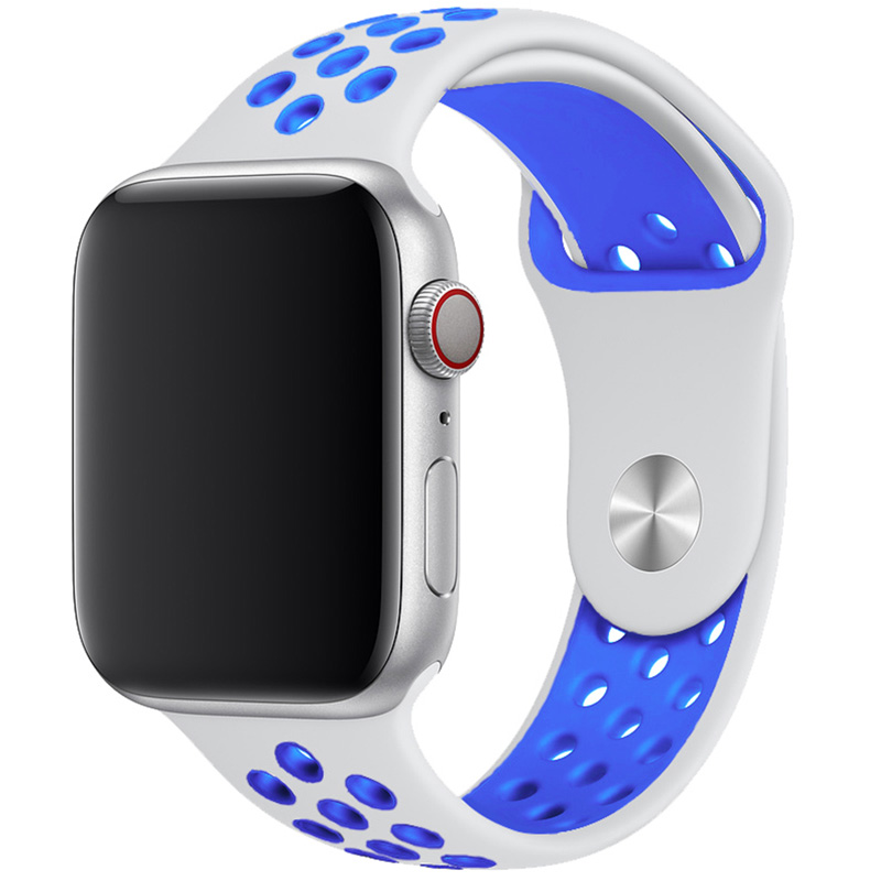 Sport Náramok Apple Watch 42/44mm White/Blue Large