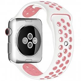 Sport Náramok Apple Watch 42/44mm White/Pink Small
