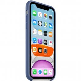 Apple Linen Blue Silicone Kryt iPhone 11
