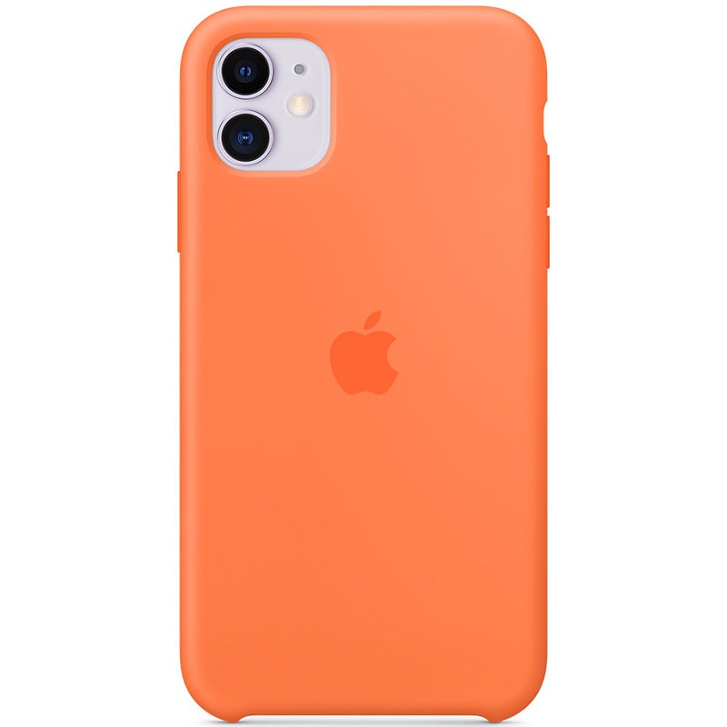 Apple Vitamin C Silicone Kryt iPhone 11