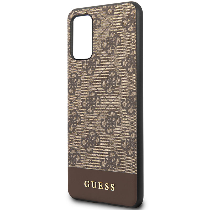 Guess 4G Stripe Brown Kryt Samsung S20 Plus