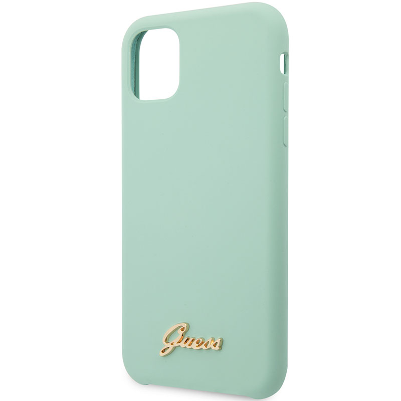 Guess Silicone Vintage Green Kryt iPhone 11