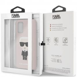 Karl Lagerfeld Iconic Full Body Silicone Pink Kryt Samsung S20 Plus