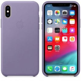 Apple Lilac Leather Kryt iPhone XS