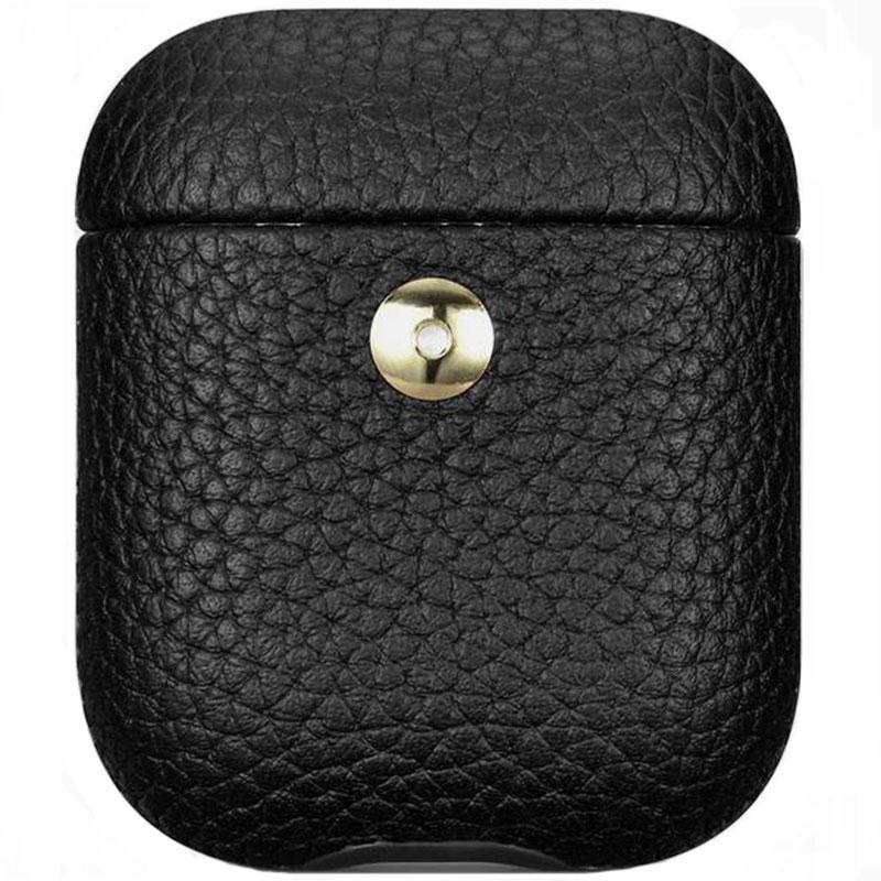 iCarer Hermes Leather Obal AirPods Black
