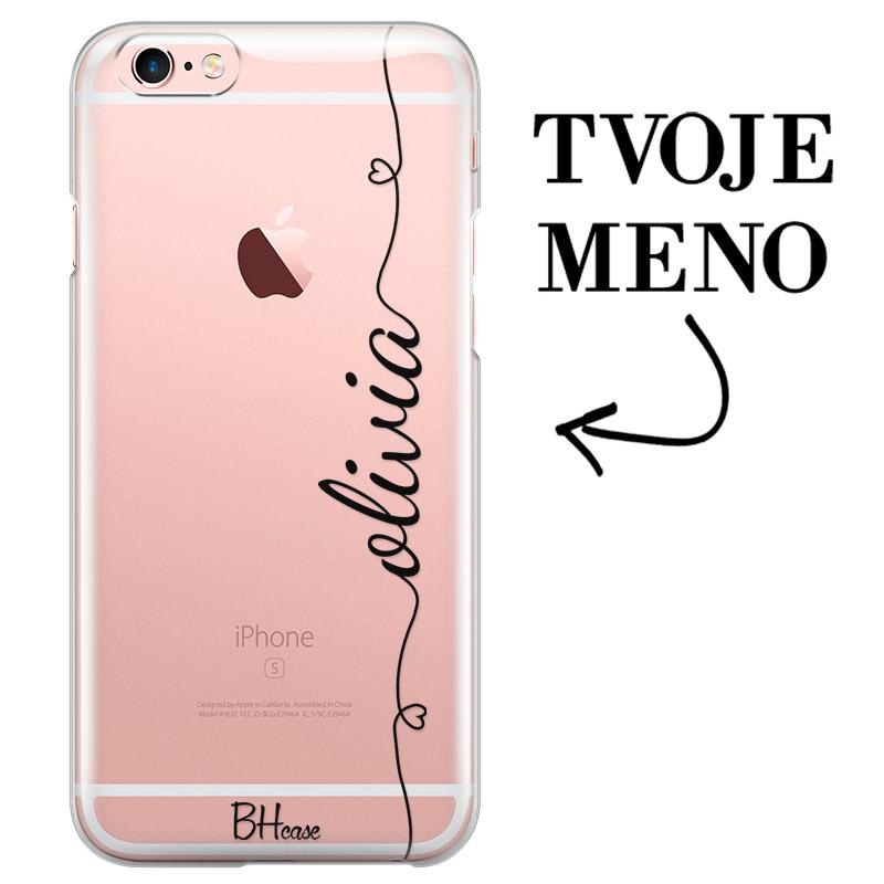 Kryt so srdiečkom a menom pre iPhone 6 Plus/6S Plus