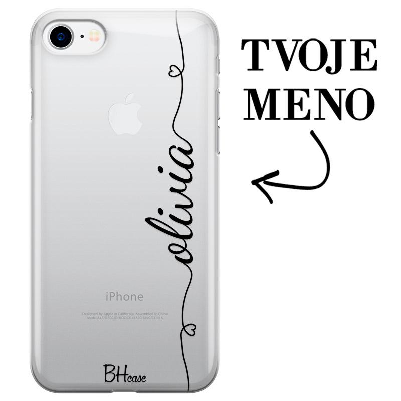 Kryt so srdiečkom a menom pre iPhone 7/8/SE 2 2020