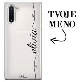 Kryt so srdiečkom a menom pre Samsung Note 10