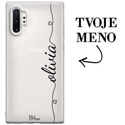 Kryt so srdiečkom a menom pre Samsung Note 10 Plus