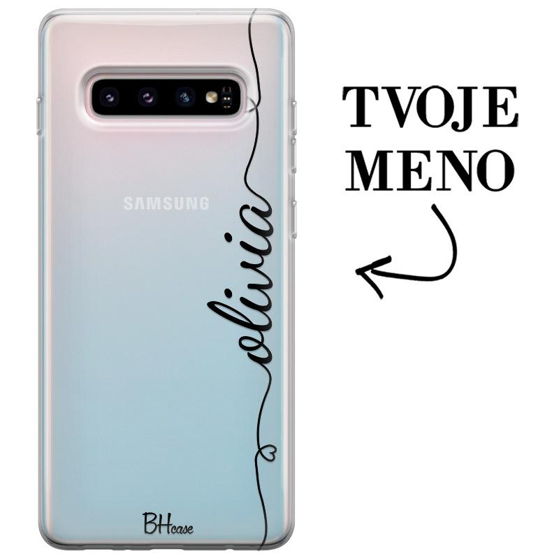 Kryt so srdiečkom a menom pre Samsung S10