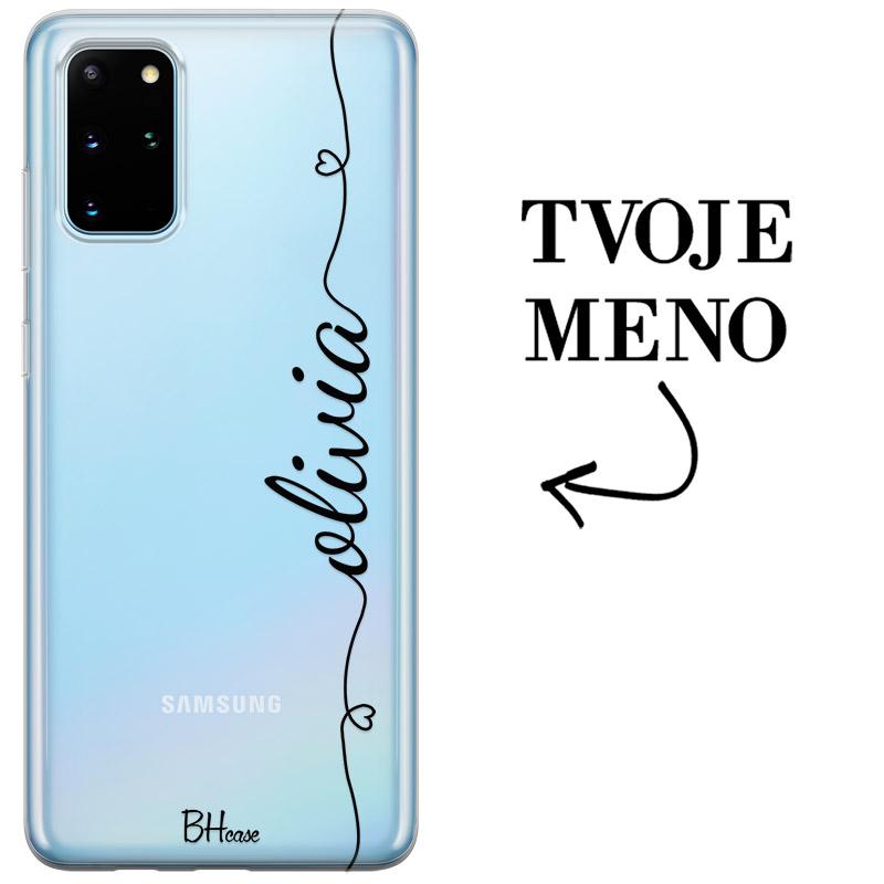 Kryt so srdiečkom a menom pre Samsung S20 Plus