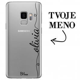 Kryt so srdiečkom a menom pre Samsung S9