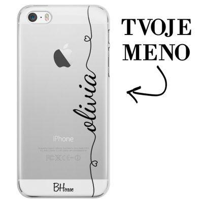 Kryt so srdiečkom a menom pre iPhone SE/5S