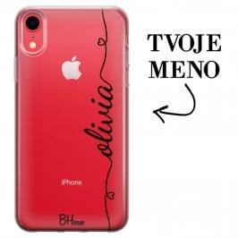Kryt so srdiečkom a menom pre iPhone XR